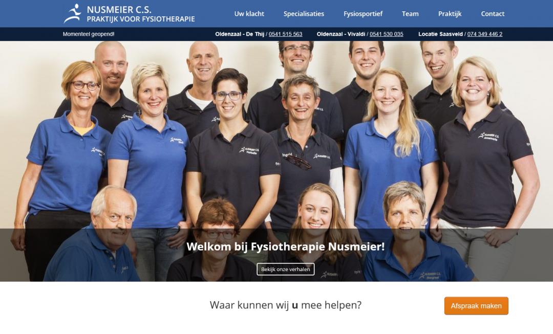 Webtekst en content creatie voor Fysiotherapie Nusmeier